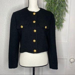 United Colors of Benetton ~ Black Wool Blazer ~ 42